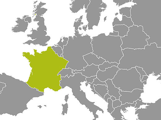 Map with France