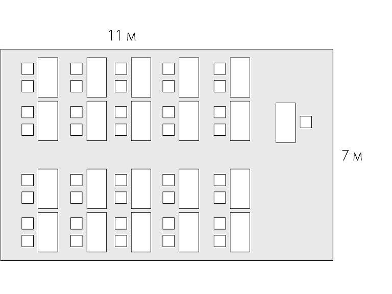 планировка помещения 77 м2
