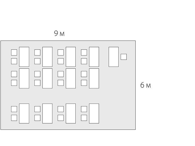 планировка помещения 54 м2