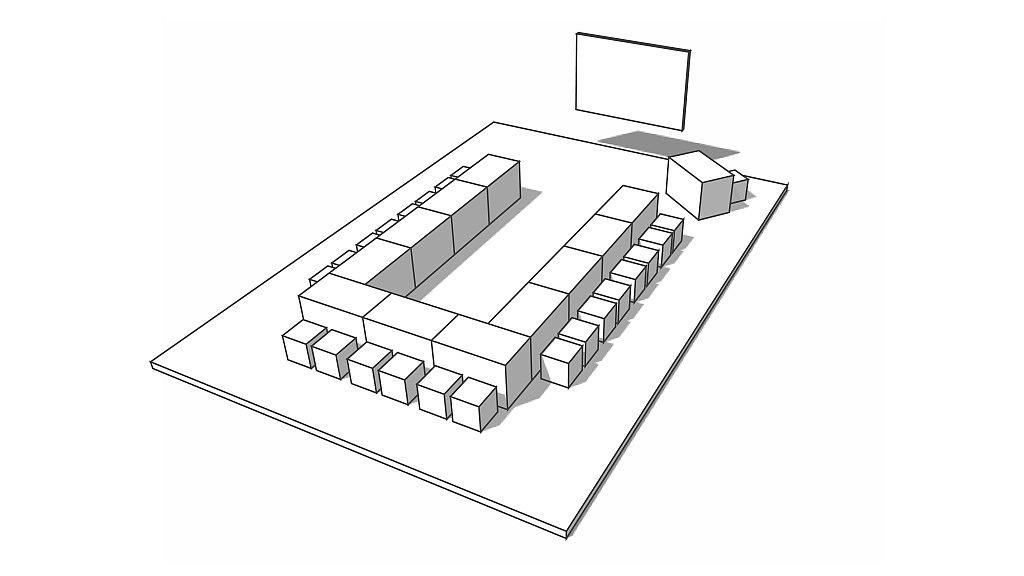 Скетч школьной мебели: конференция